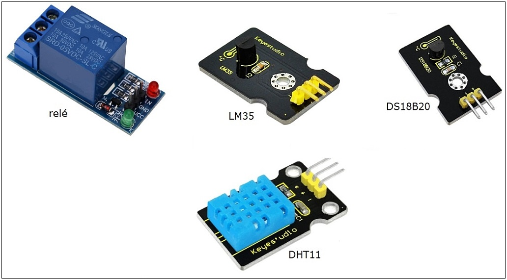 Relé e Sensores de Temperatura: LM35 e DS18B20 – EADuino